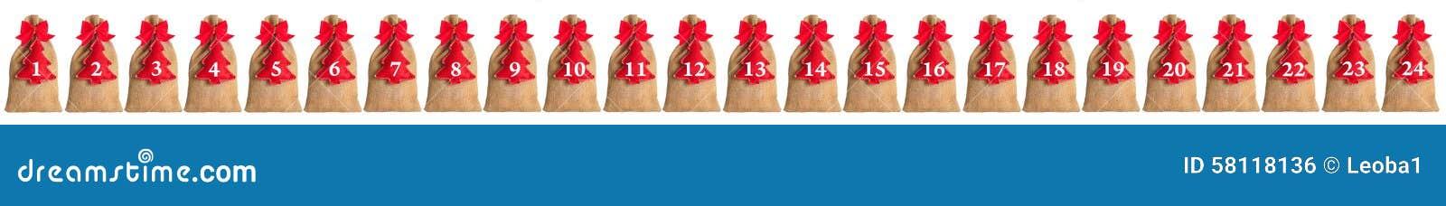 Calendario di arrivo isolato