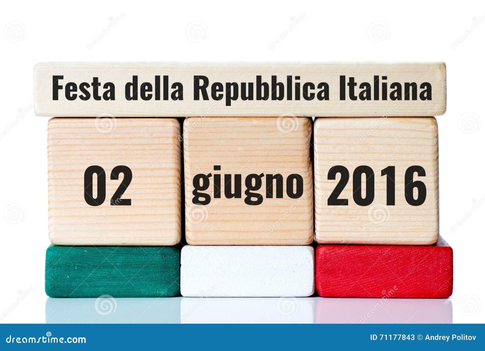 Calendario Repubblica.Calendario Di Legno Di Festa Dell Indipendenza Dell Italia