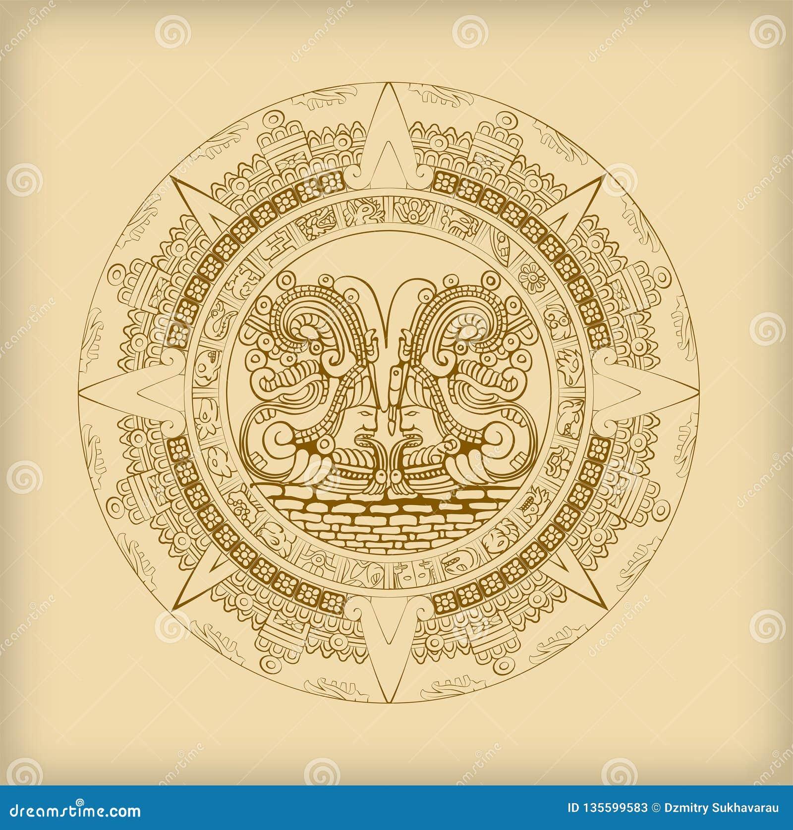 Calendario Dei Maya.Calendario Di Maya Dei Simboli Maya O Aztechi Del