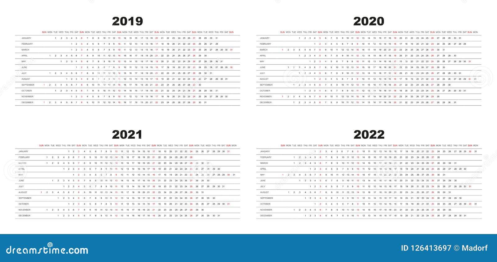 Calendario Con Le Settimane 2020.Calendario 2019 2020 Di Progettazione Semplice 2021 2022