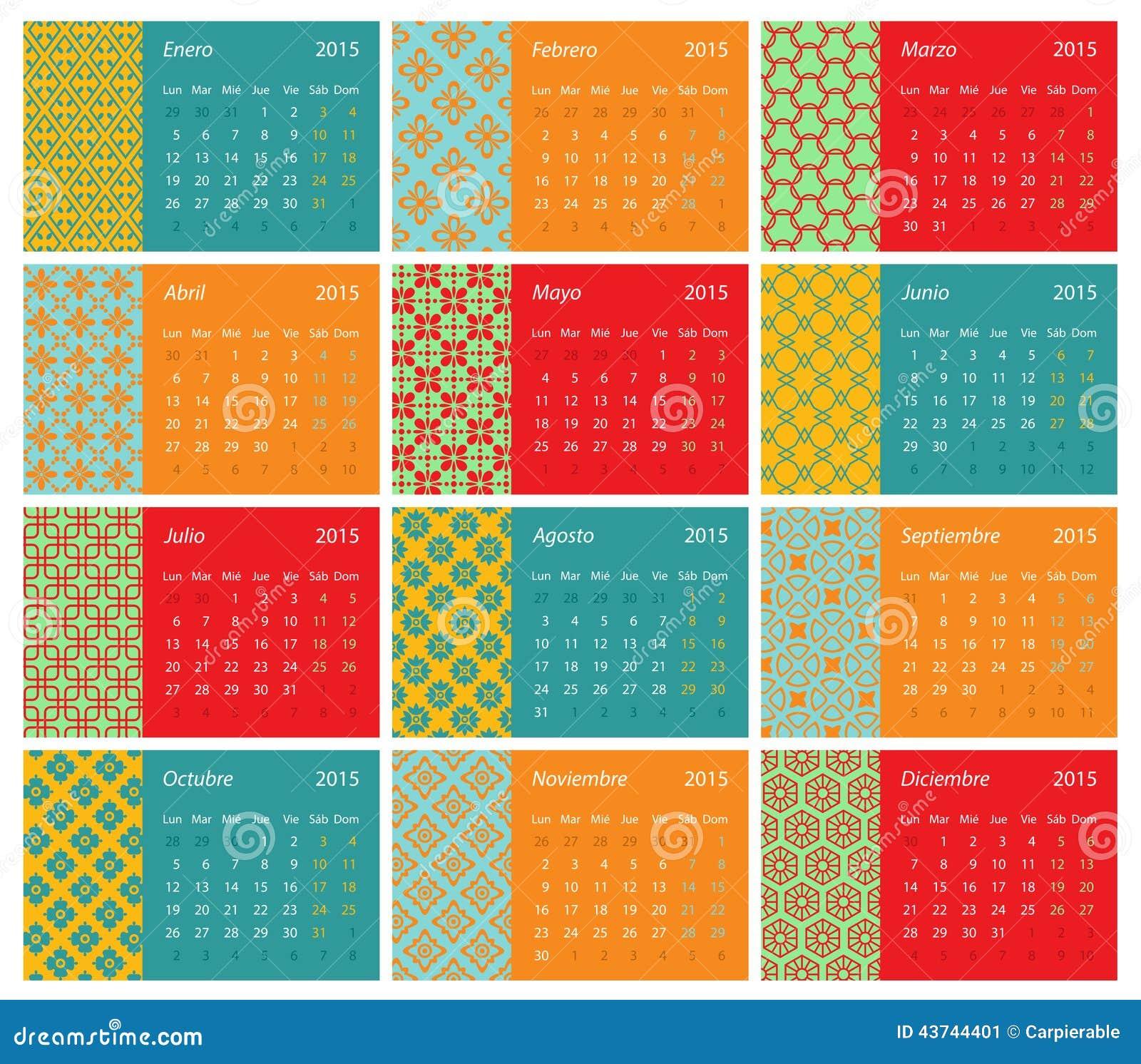 Calendario español 2015