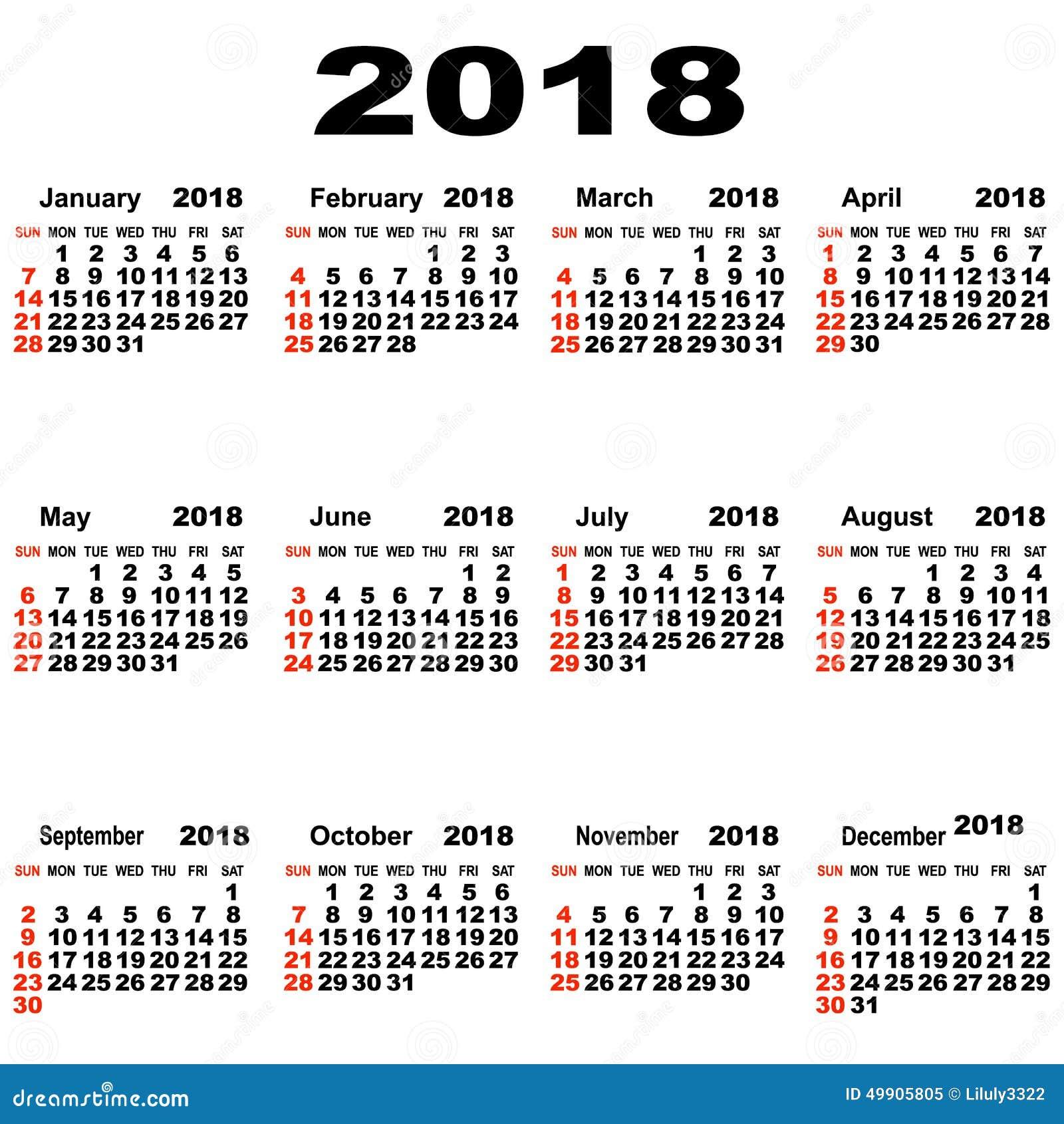 Art Calendar Hong Kong : Calendario europeo de ilustración del vector imagen