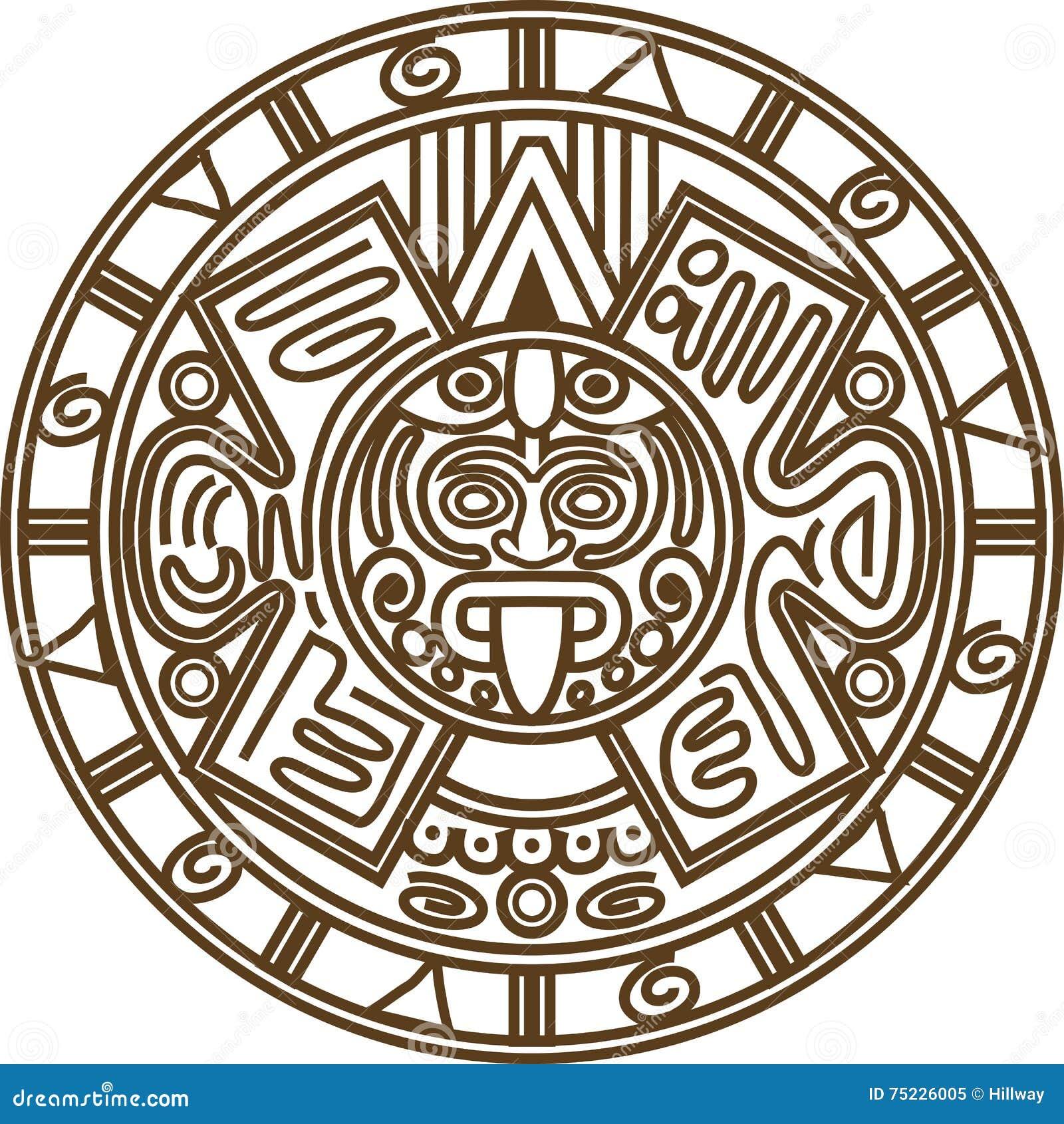 Il Calendario Maya.Calendario Maya Illustrazione Vettoriale Illustrazione Di