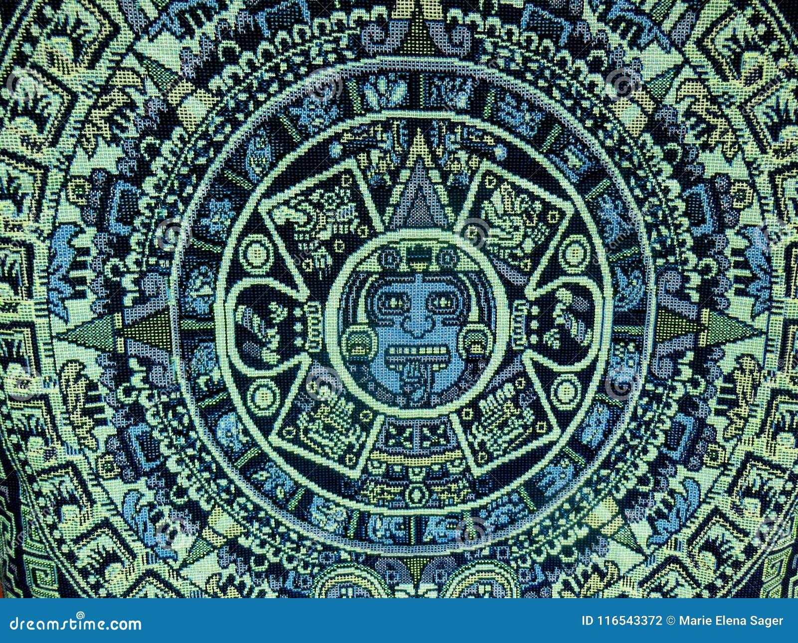 Il Calendario Maya.Calendario Maya Azteco Fotografia Stock Immagine Di Solare