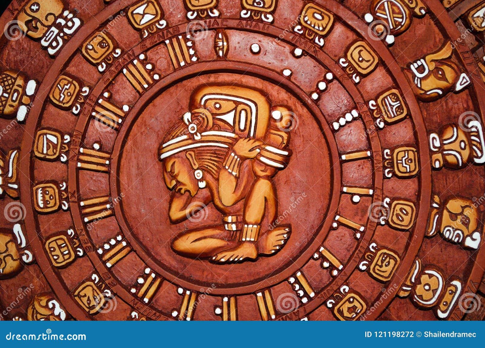 Calendario Dei Maya.Calendario Maya Circolare Messico Fotografia Stock