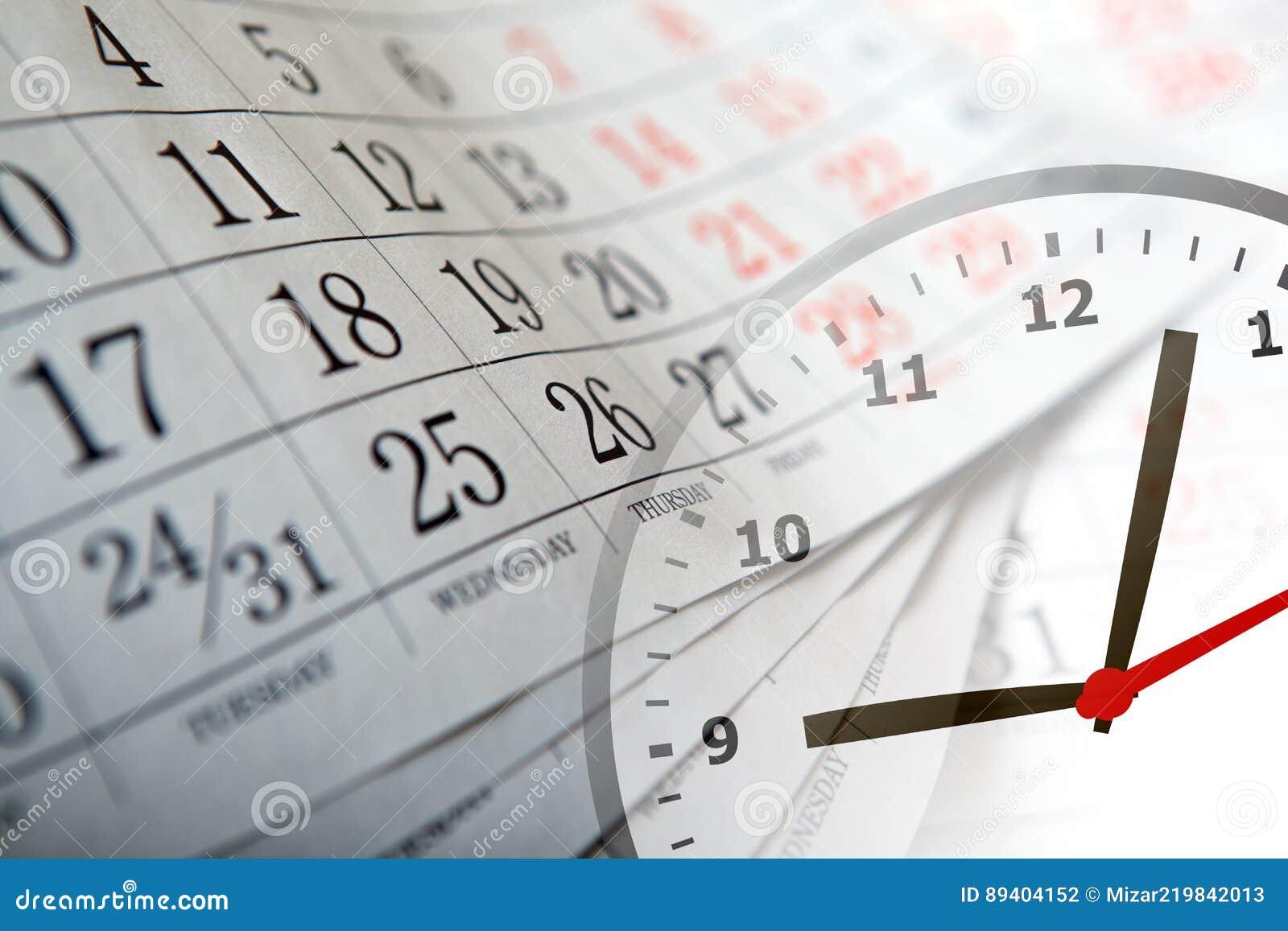Calendario Con Numero Giorni.Calendario Murale Con Il Numero Dei Giorni E Dell Orologio