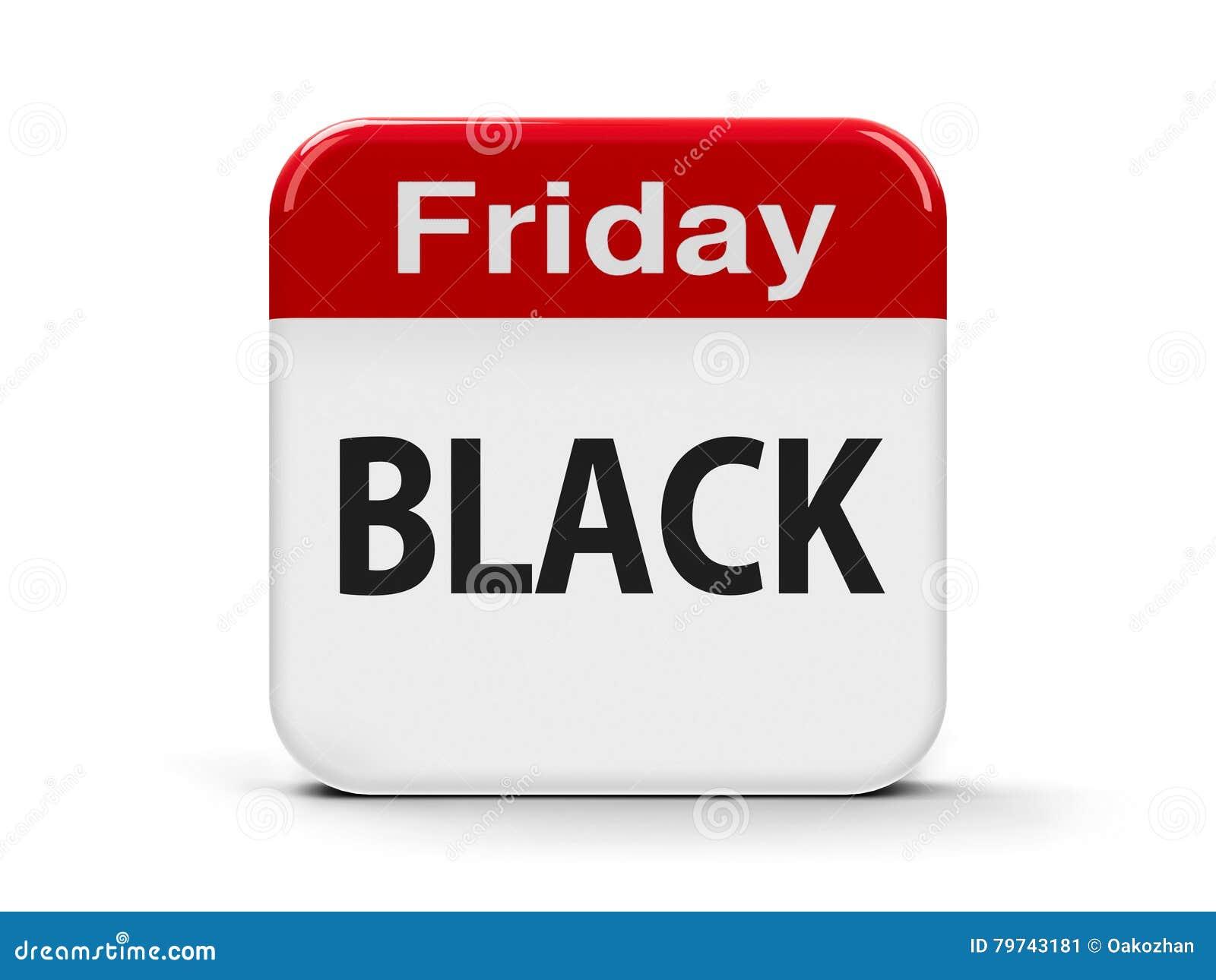 Calendario negro de viernes