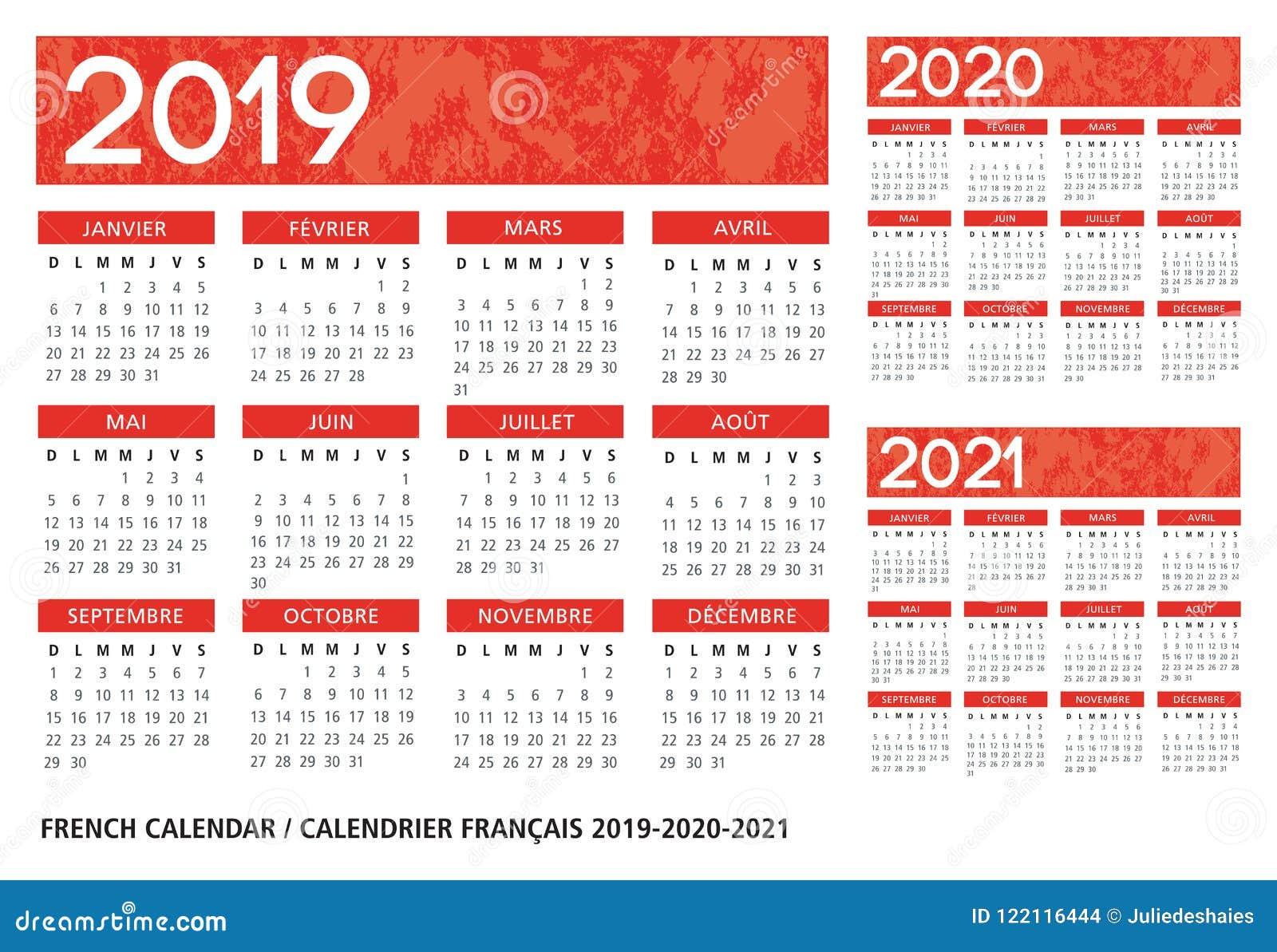 Calendario Strutturato 2019 2020 2021 Di Lingua Francese