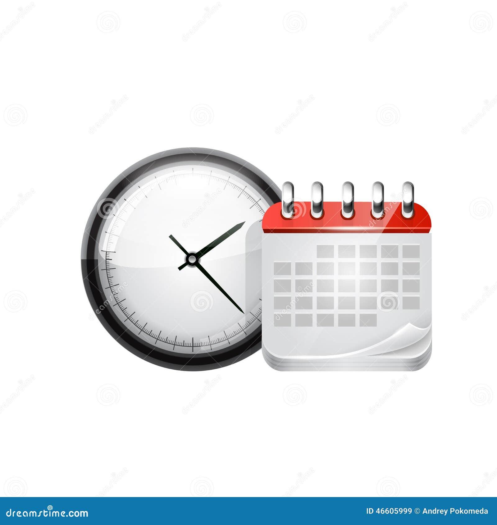 Y Vector Reloj Del Ilustración Web Calendario XOPiuTlwZk
