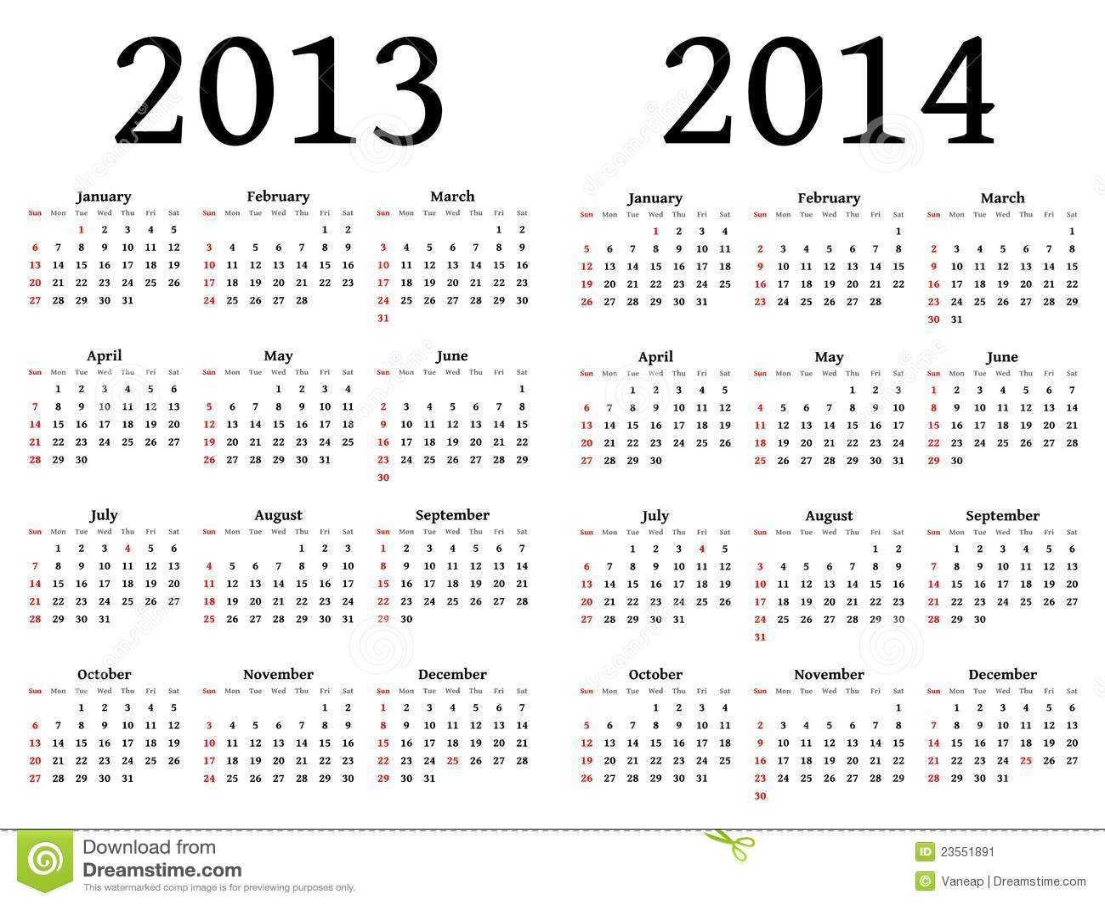 2013 2014 Calendar