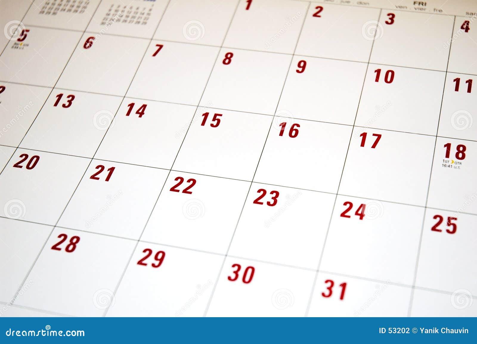 Download Calendrier 2 photo stock. Image du rappel, calendrier, numéro - 53202