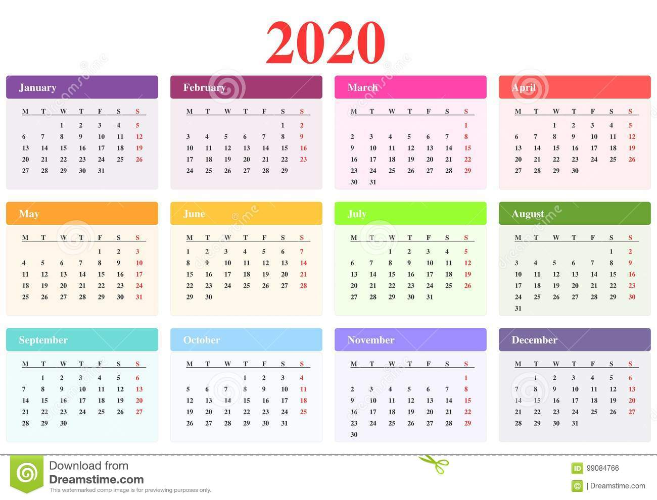 Download Kalender 2019 Vector Gratis