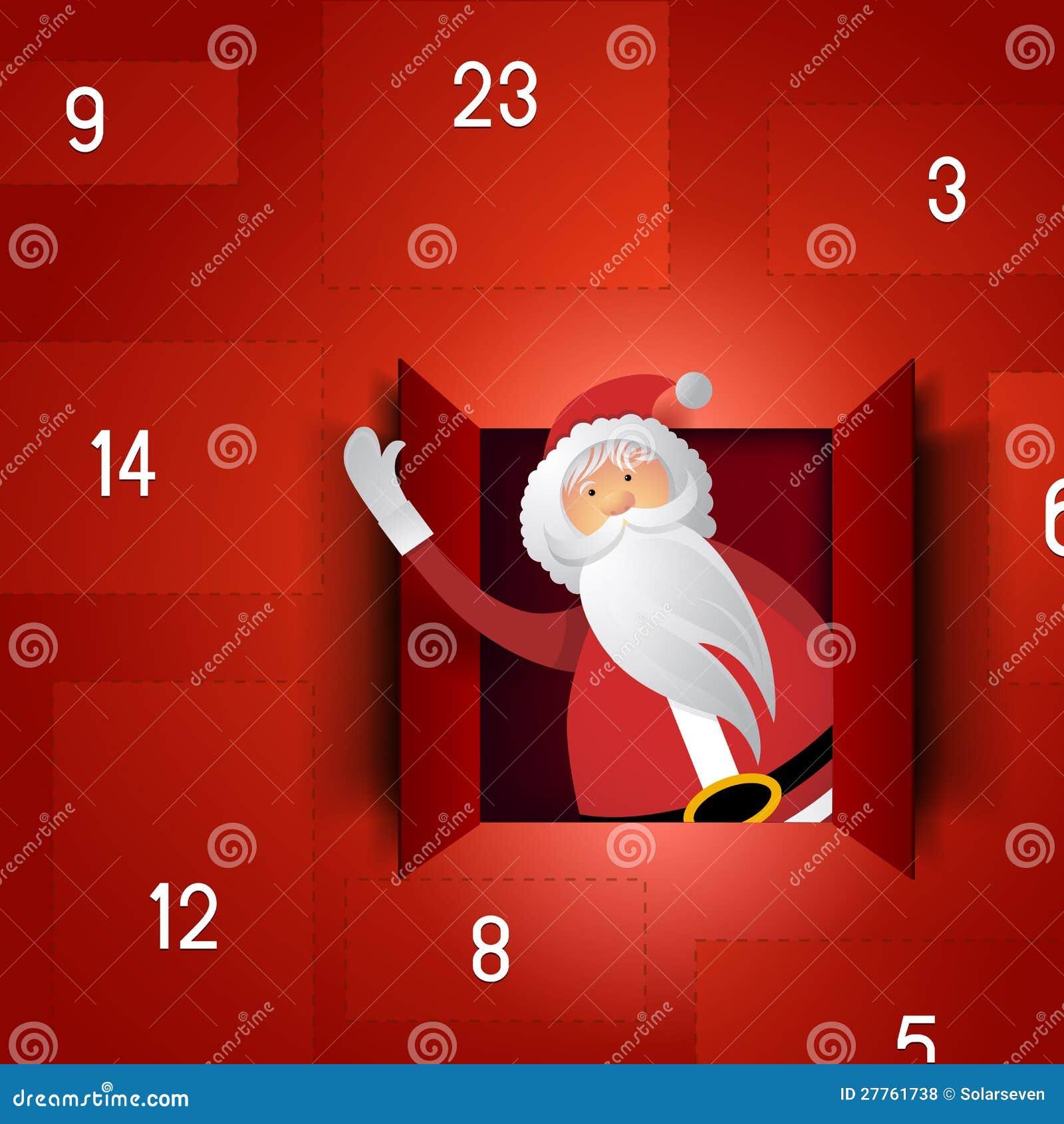 Calendrier d arrivée de Santa