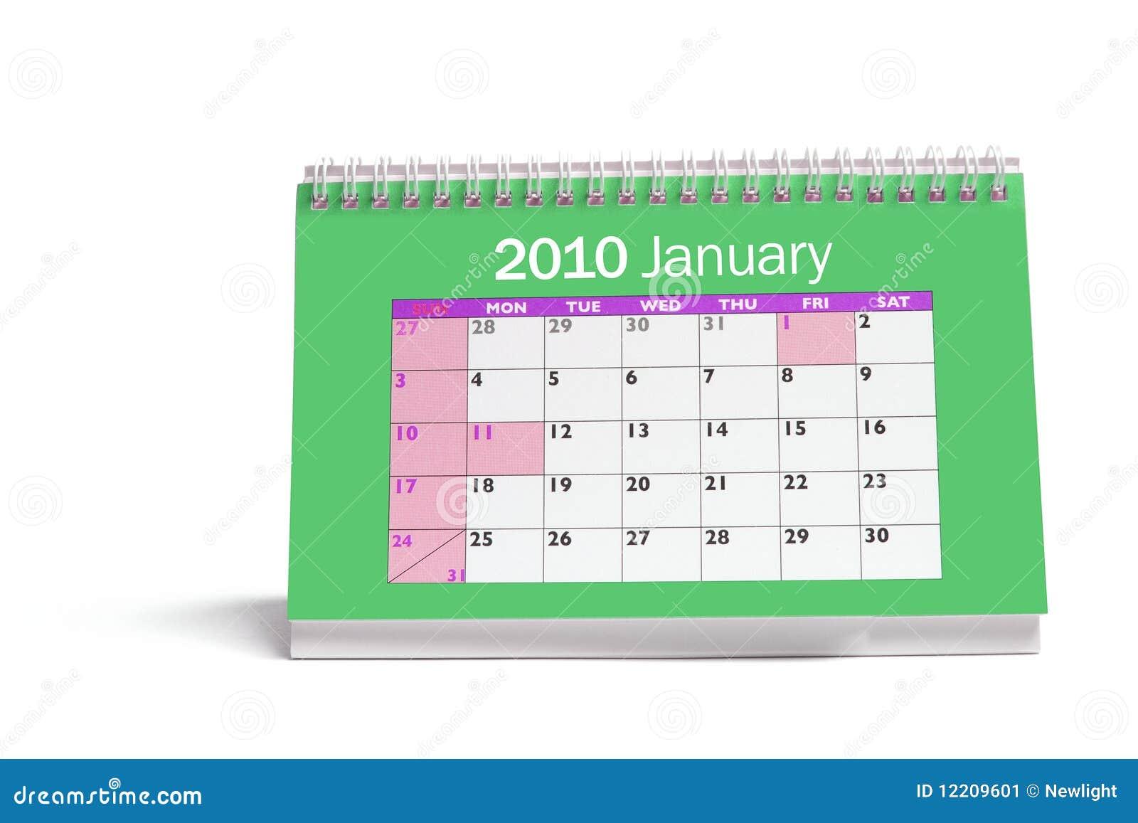 calendrier de bureau image stock image 12209601