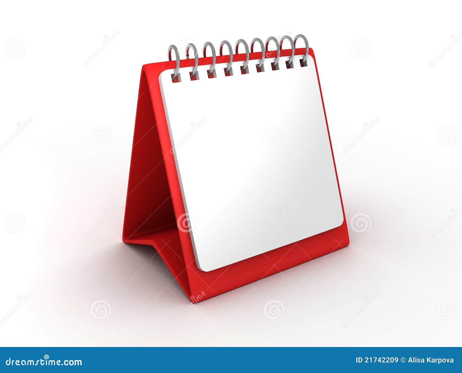 Calendrier de bureau de papier blanc pour le bureau
