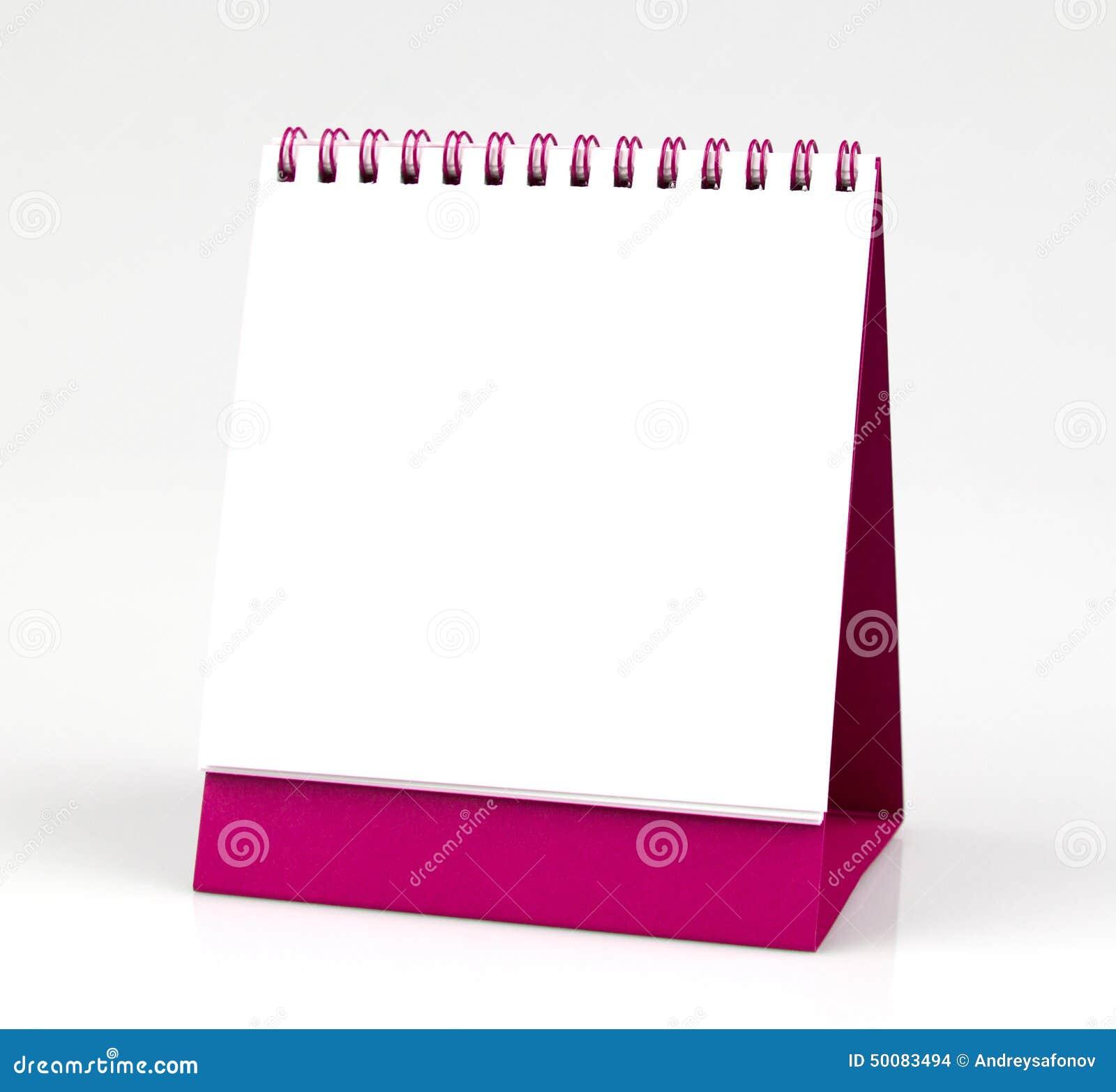 Calendrier de bureau vide d 39 isolement sur le fond blanc illustration stock illustration du - Calendrier sur le bureau ...
