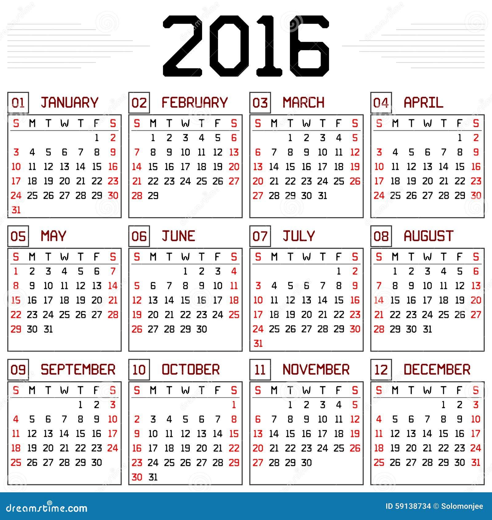 Calendario Para Imprimir Y Colorear 2018 7