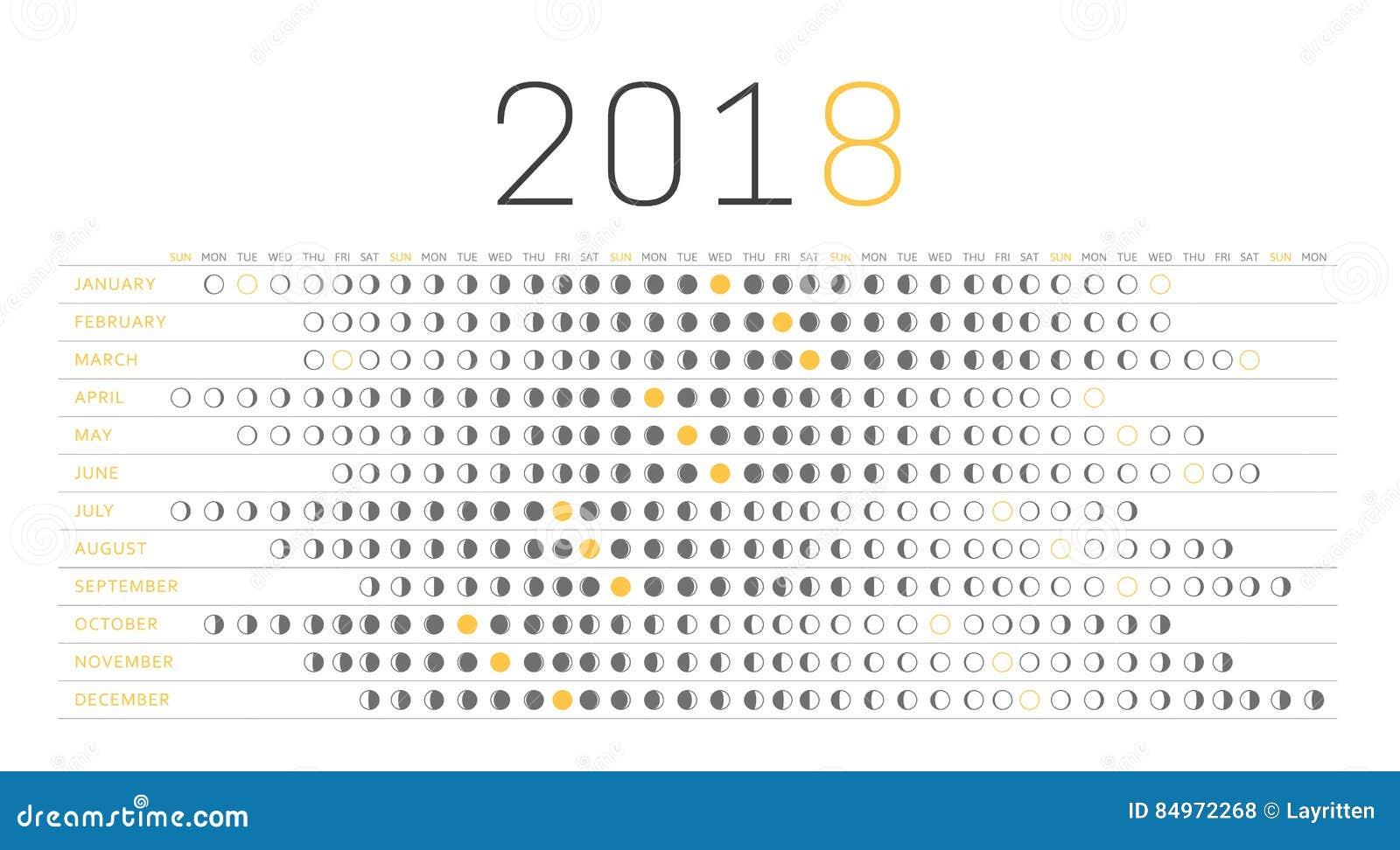 Calendrier 2018 avec les lunes ub23 jornalagora - Calendrier de la lune 2017 ...