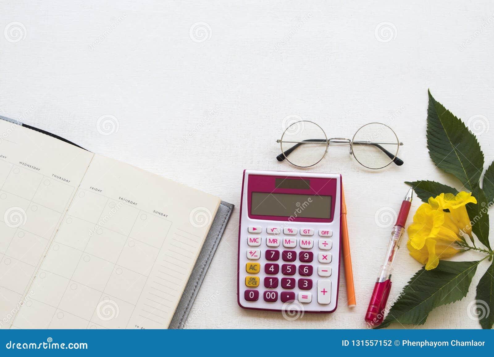 Calendrier de planificateur de carnet pour le travail d affaires