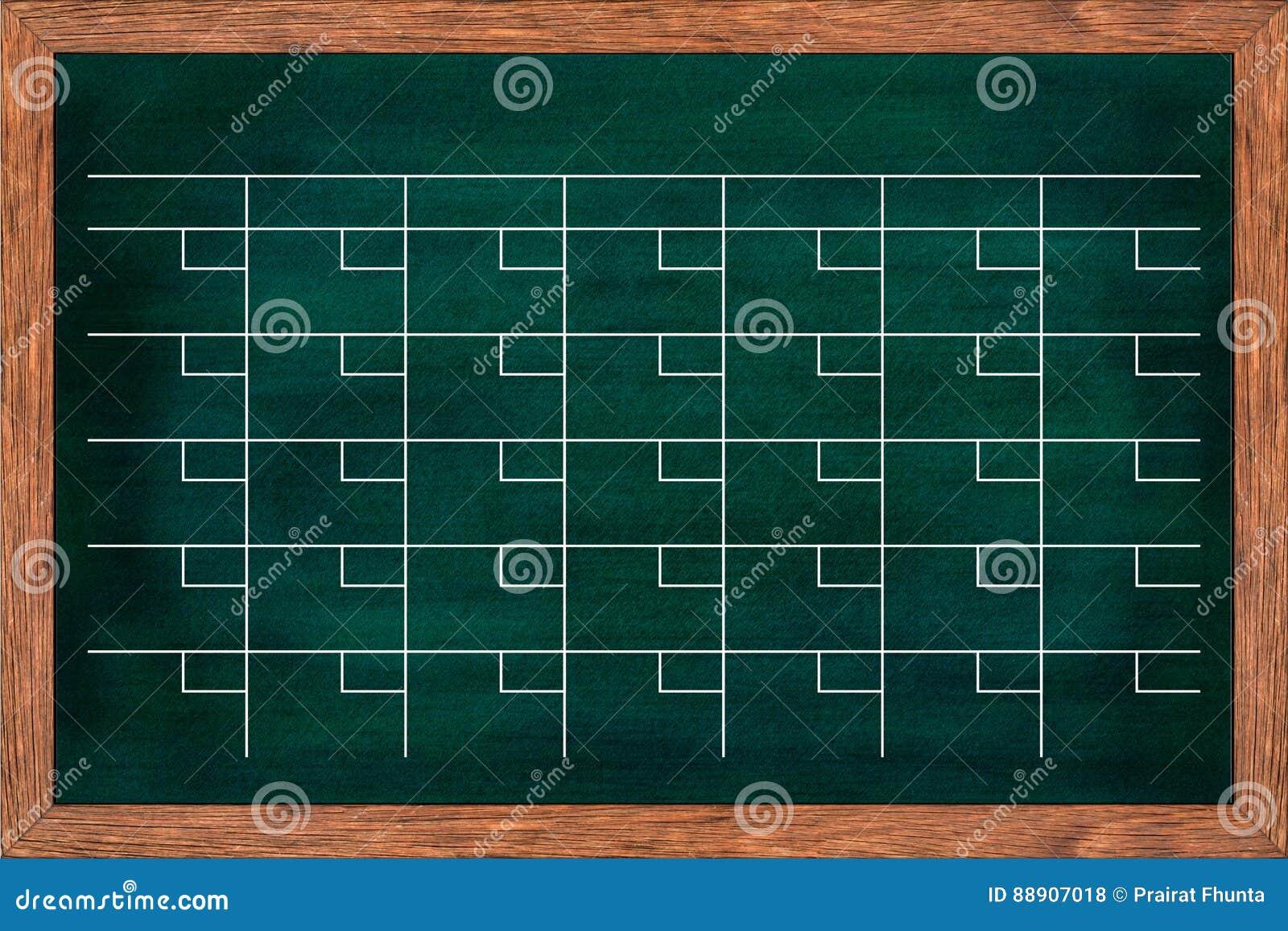 Calendrier de tableau pour l organisation de maison ou de bureau
