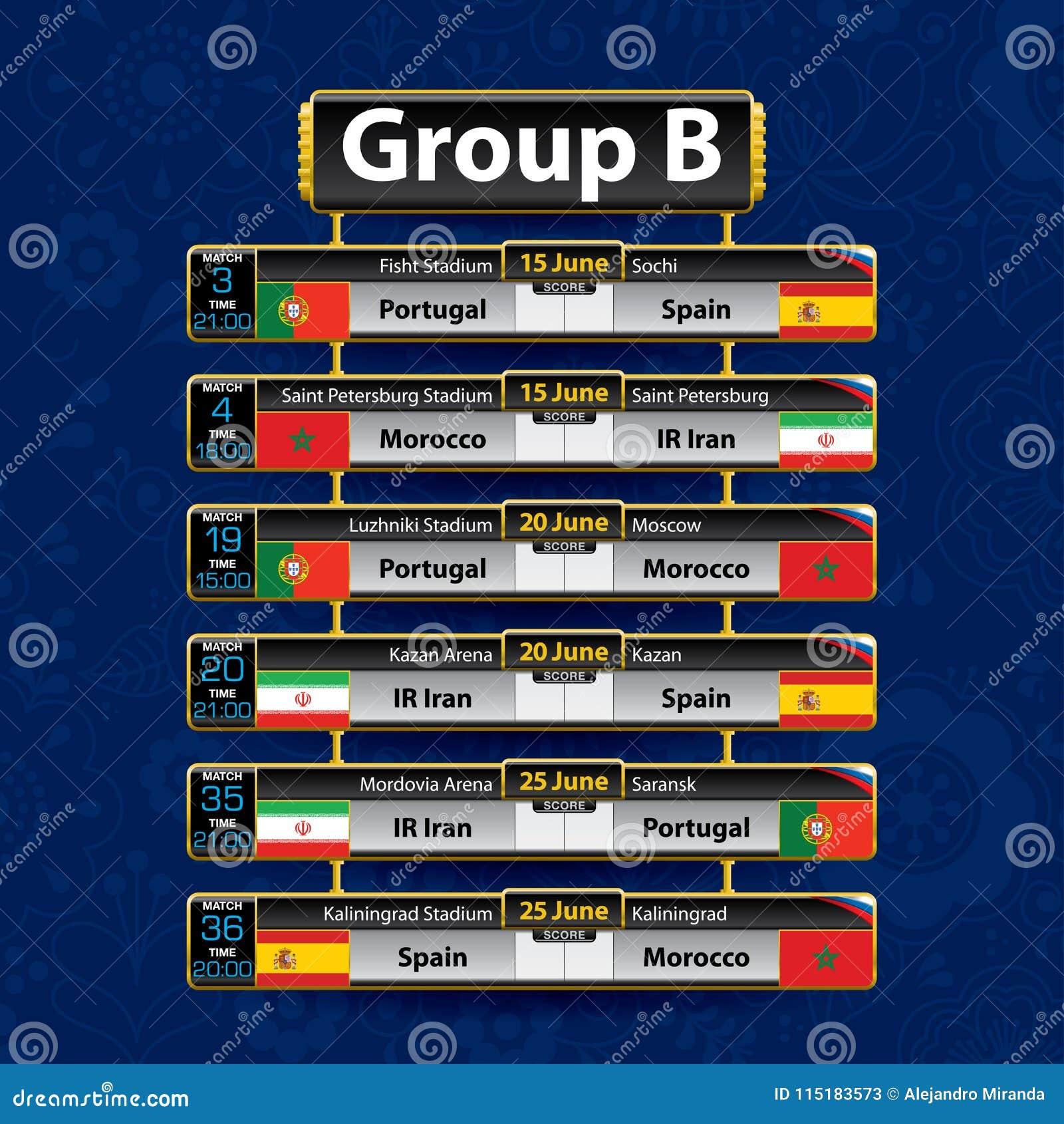 Calendrier De Tournoi Du Football De La Russie Groupez B