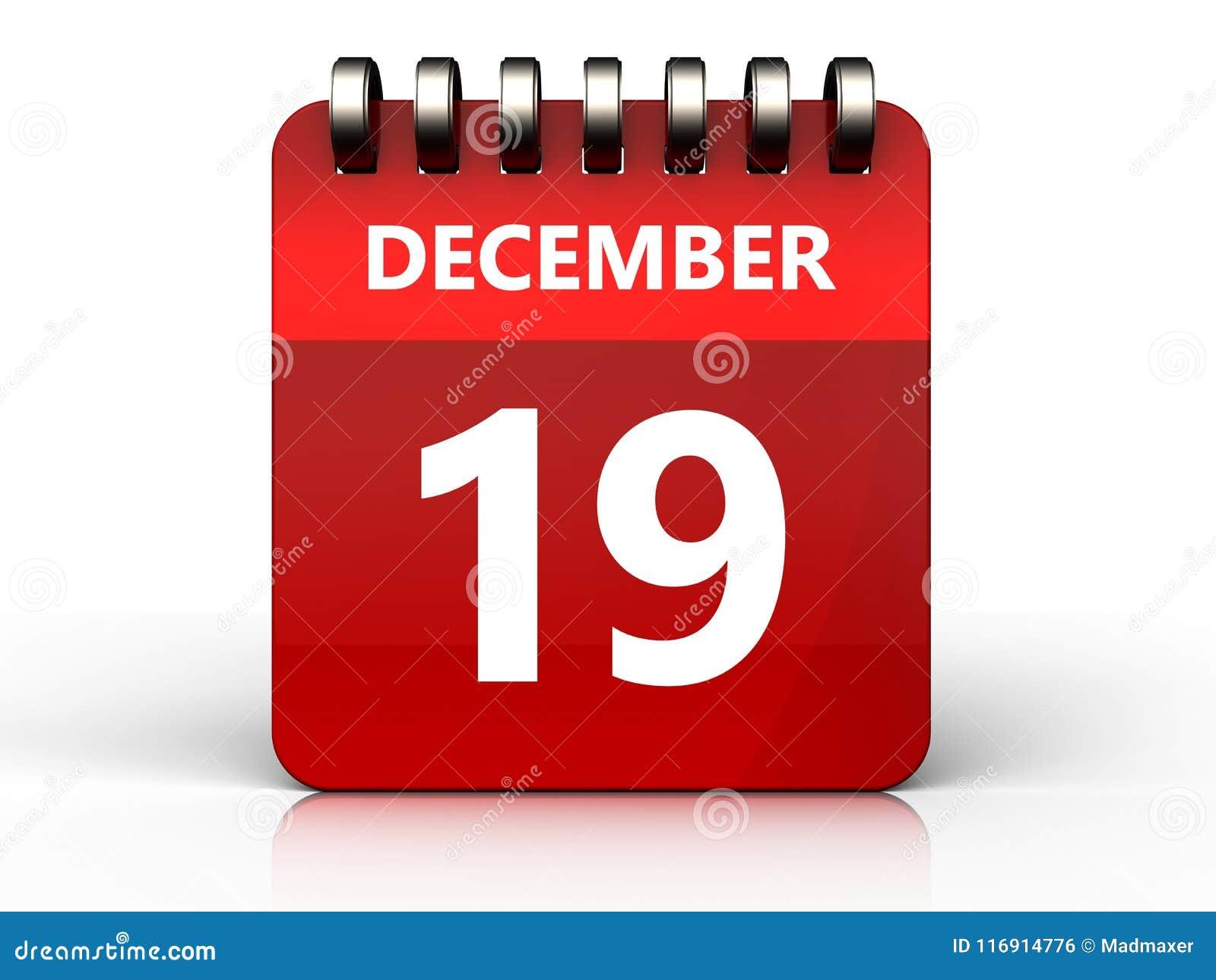 Calendrier du 19 décembre 3d