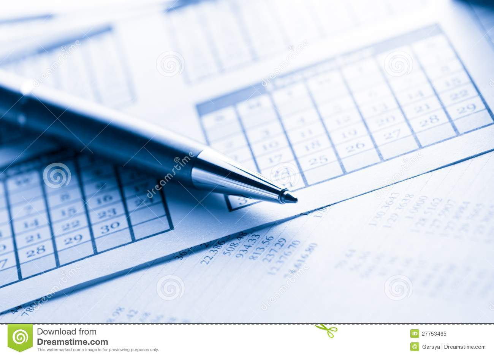 Calendrier et stylo