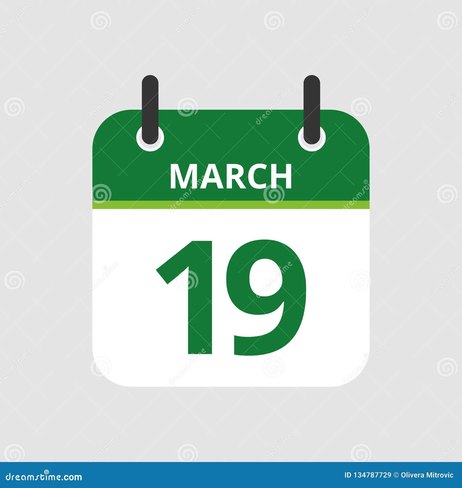 Calendrier le 19ème mars