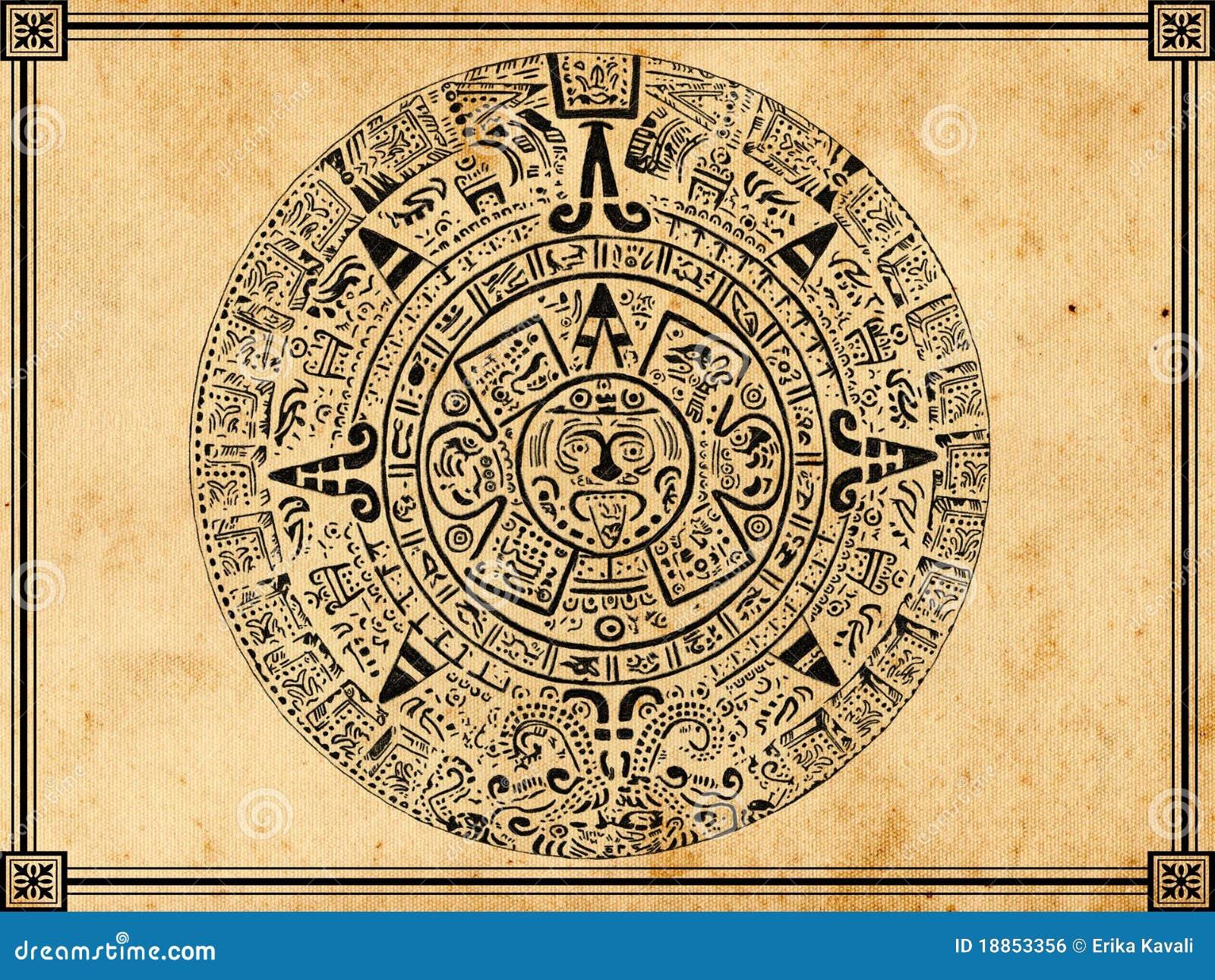 Calendrier Maya Dessin.Calendrier Maya Photo Stock Image Du Vieux Mythologie