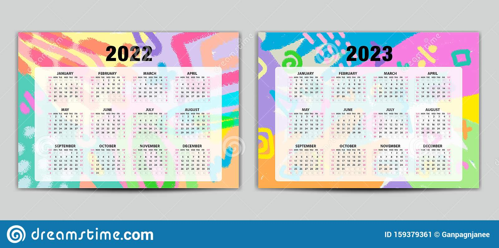 Calendrier 2022 2023 Cycle 2 Calendrier 2022 2023 Modèle Vectoriel, Calendrier De Lettres