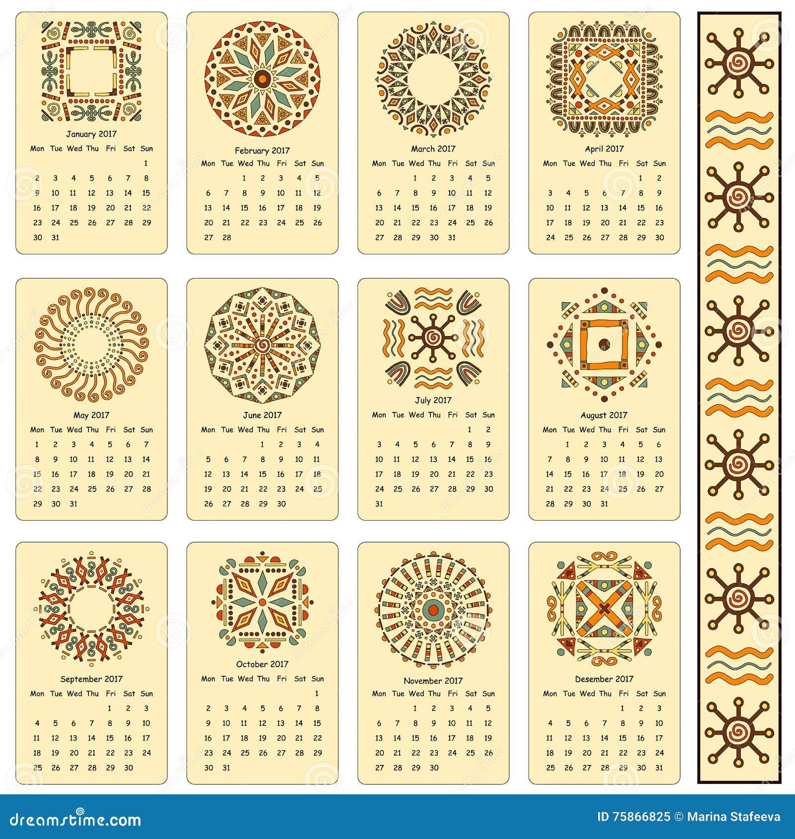 Calendrier Egyptien.Calendrier Modeles Egyptiens Cartes Pour Le Chaque Mois De L