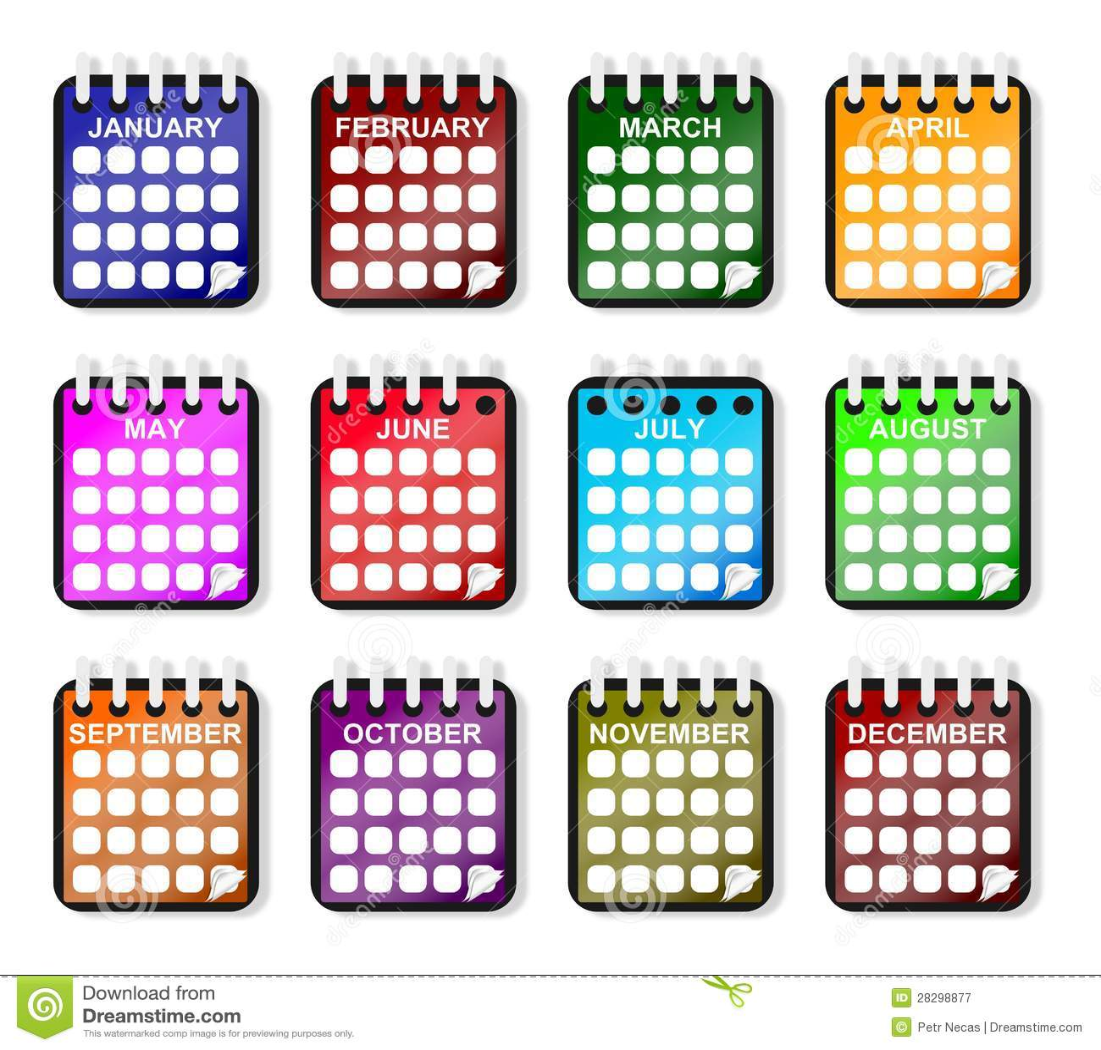 117b2d1614aaf2 Calendrier Pendant Toute L année Illustration Stock - Illustration ...