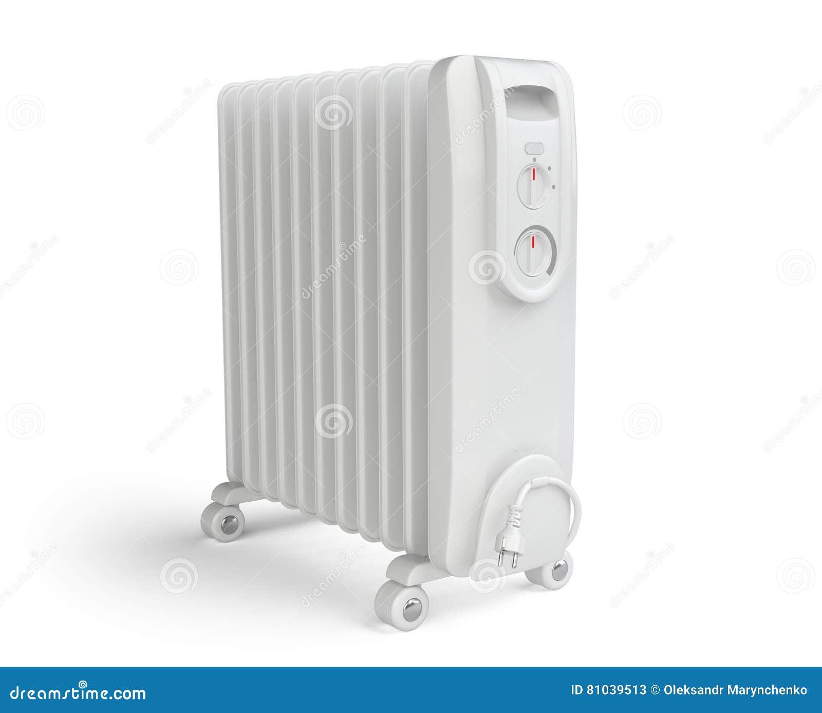 Calentador el ctrico blanco en el aceite en el fondo - Calentador electrico precio ...