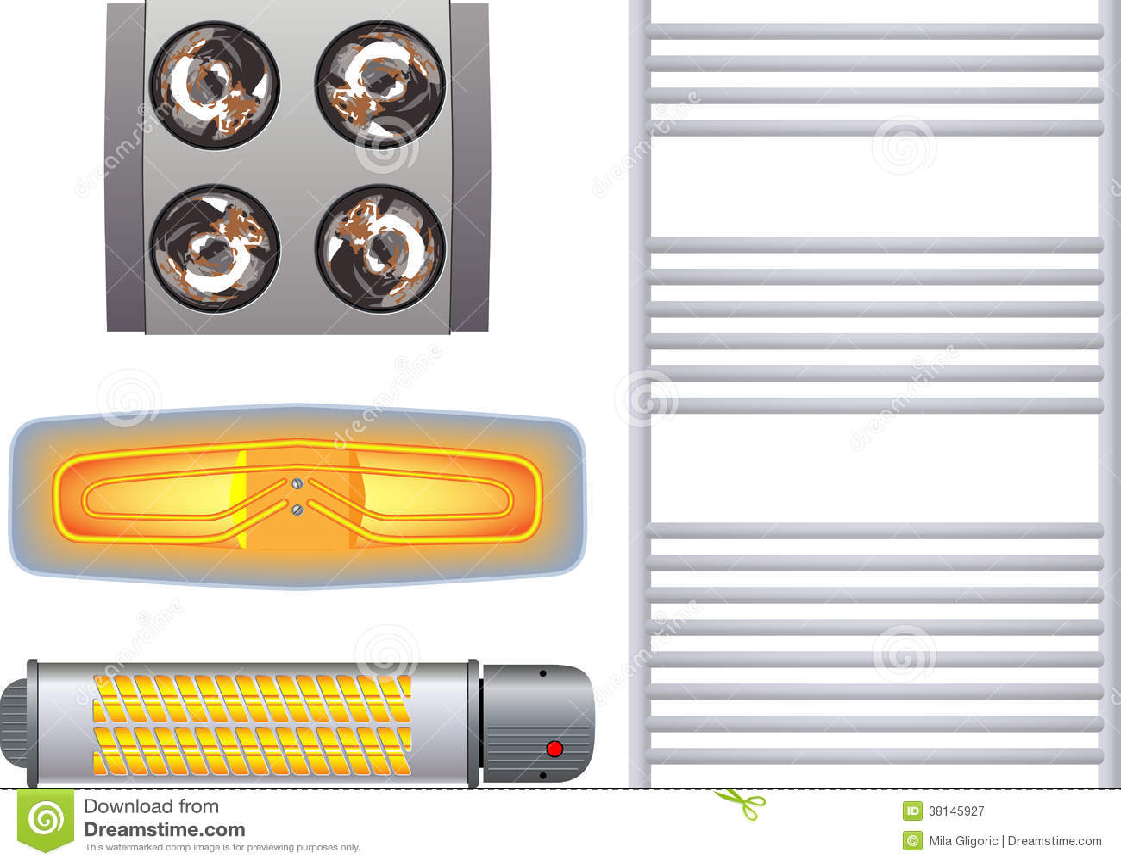 Calentadores Para Cuartos De Bano.Calentador Para El Cuarto De Bano Imagen De Archivo Imagen