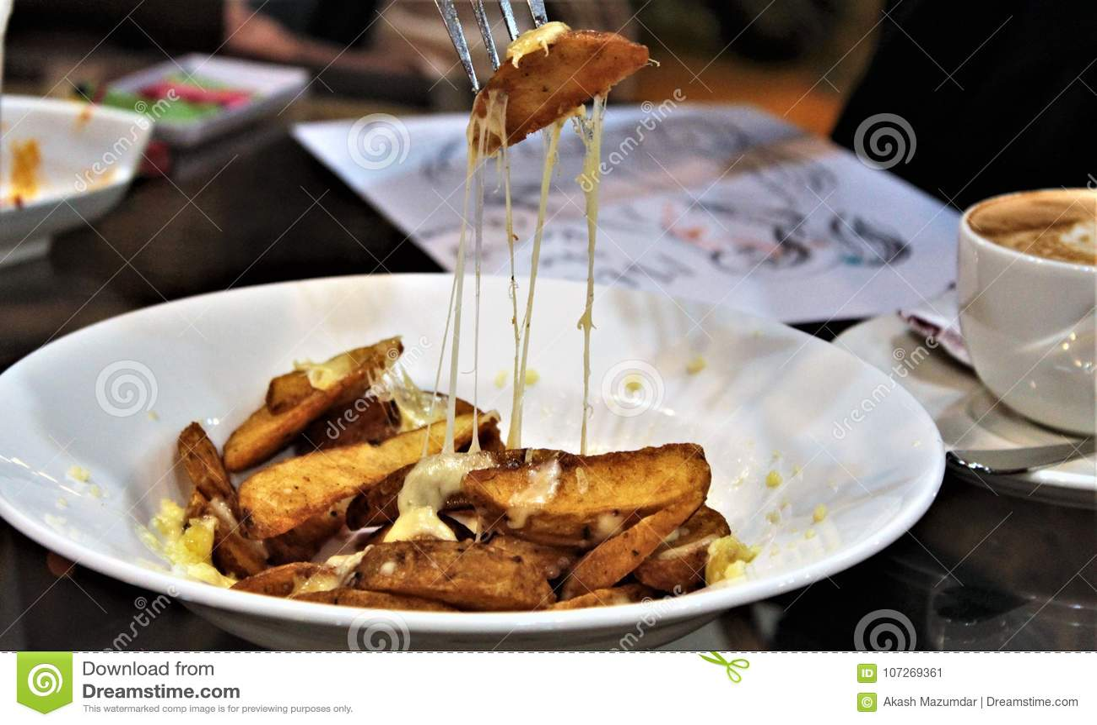 Cales de fromage de pomme de terre