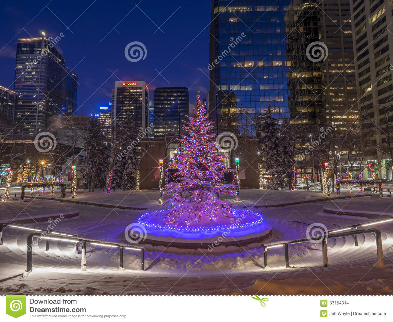 Christmas In Calgary Canada.Calgary At Christmas Editorial Stock Image Image Of 2016in