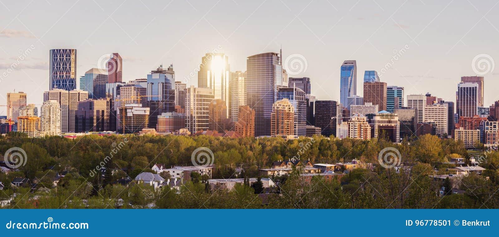 Calgary - panorama av staden