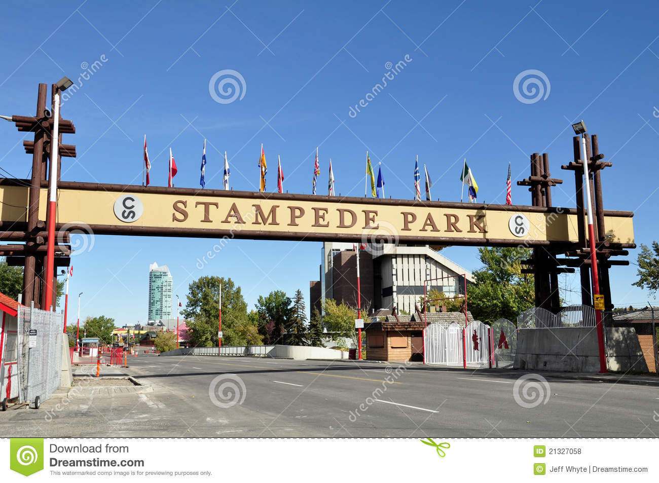 Calgary Stampede Sign Editorial Stock Photo Image 21327058