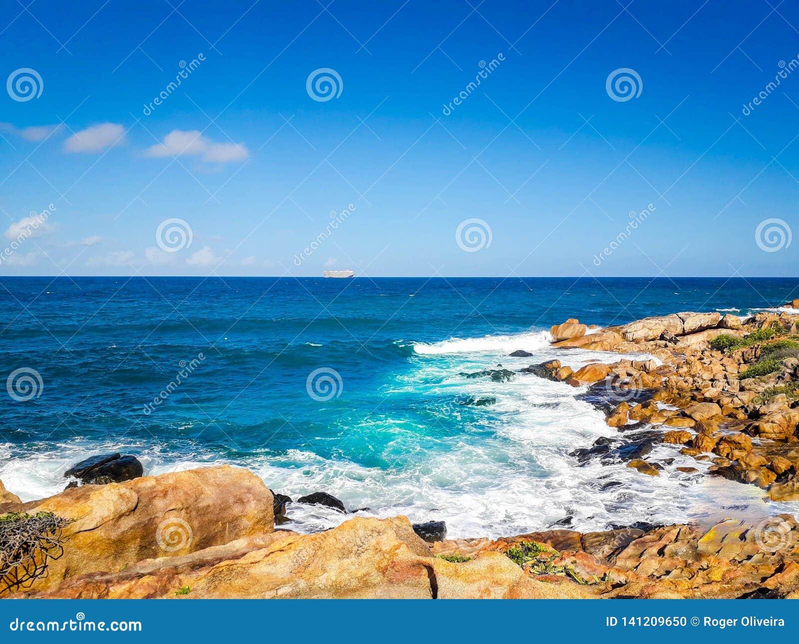 Calhetas beach on interior of Pernambuco, Brazil.