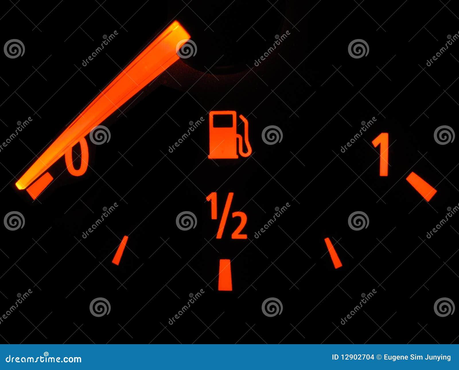 Calibrador de combustible vacío