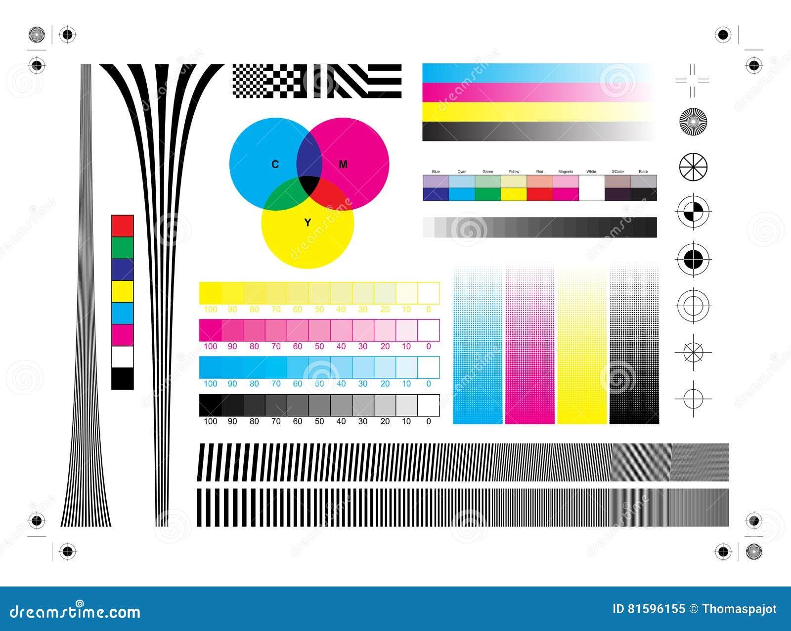 Calibration Printing Marks Stock Vector Image 81596155