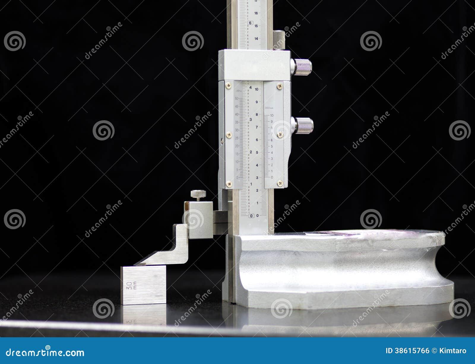 Granite Blocks Instrument : Calibration vernier high gauge with block royalty