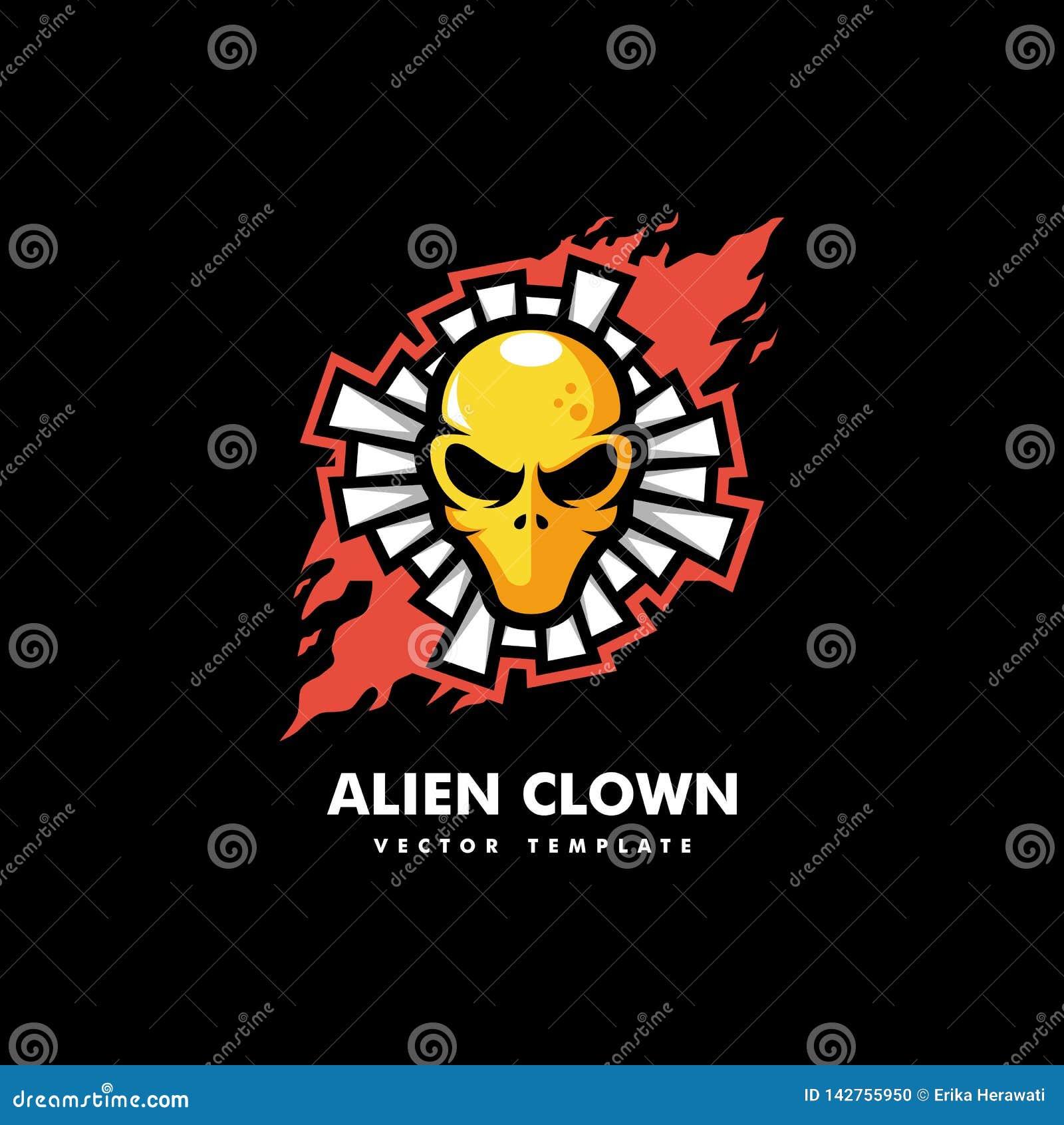 Calibre étranger de vecteur d illustration de Concept de clown