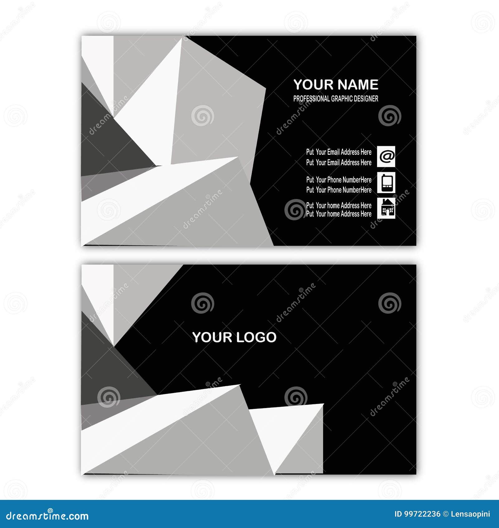 Calibre Abstrait Blanc De Carte Visite Professionnelle Cube
