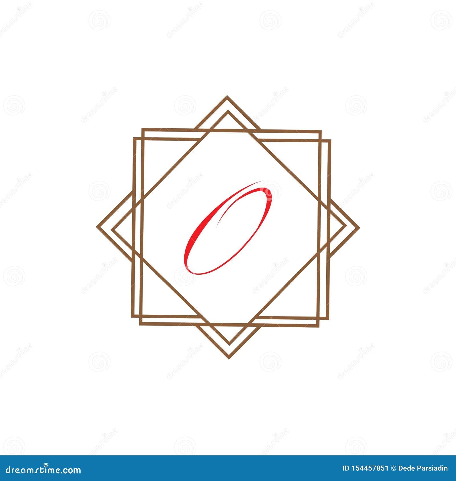 Calibre abstrait d entreprise de conception de logo de vecteur d unité d affaires de la lettre O