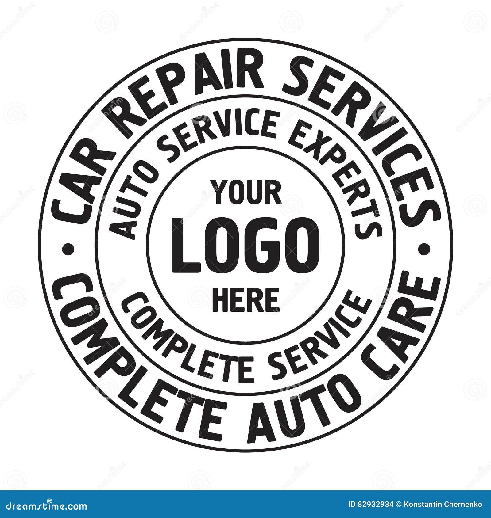 Calibre automatique d insigne de services des réparations Label de service de voiture, emblème