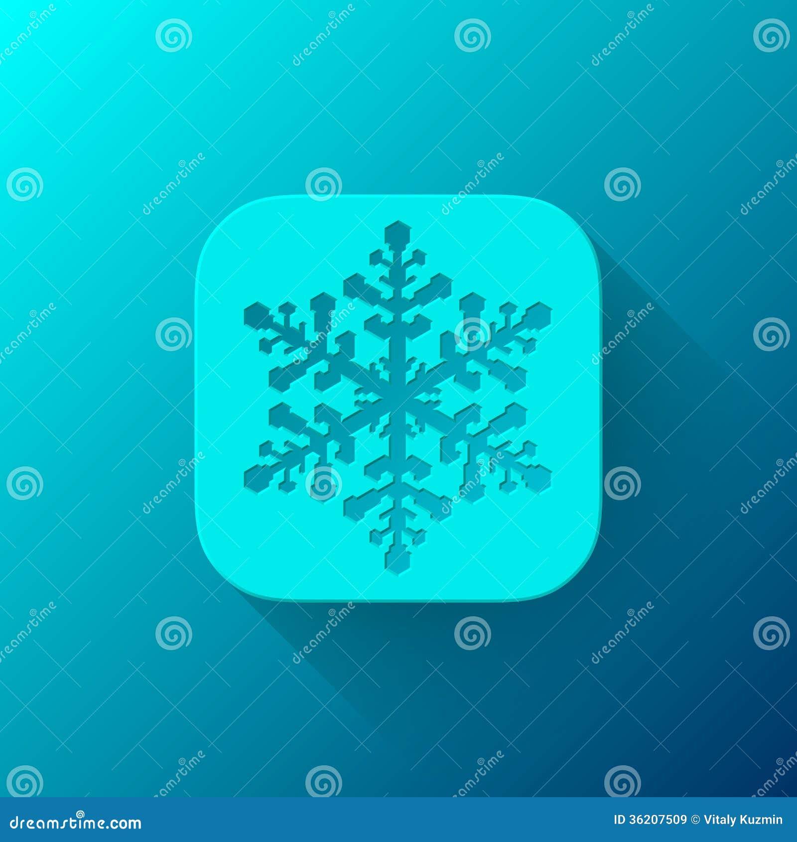 Calibre bleu d icône du résumé APP avec le flocon de neige