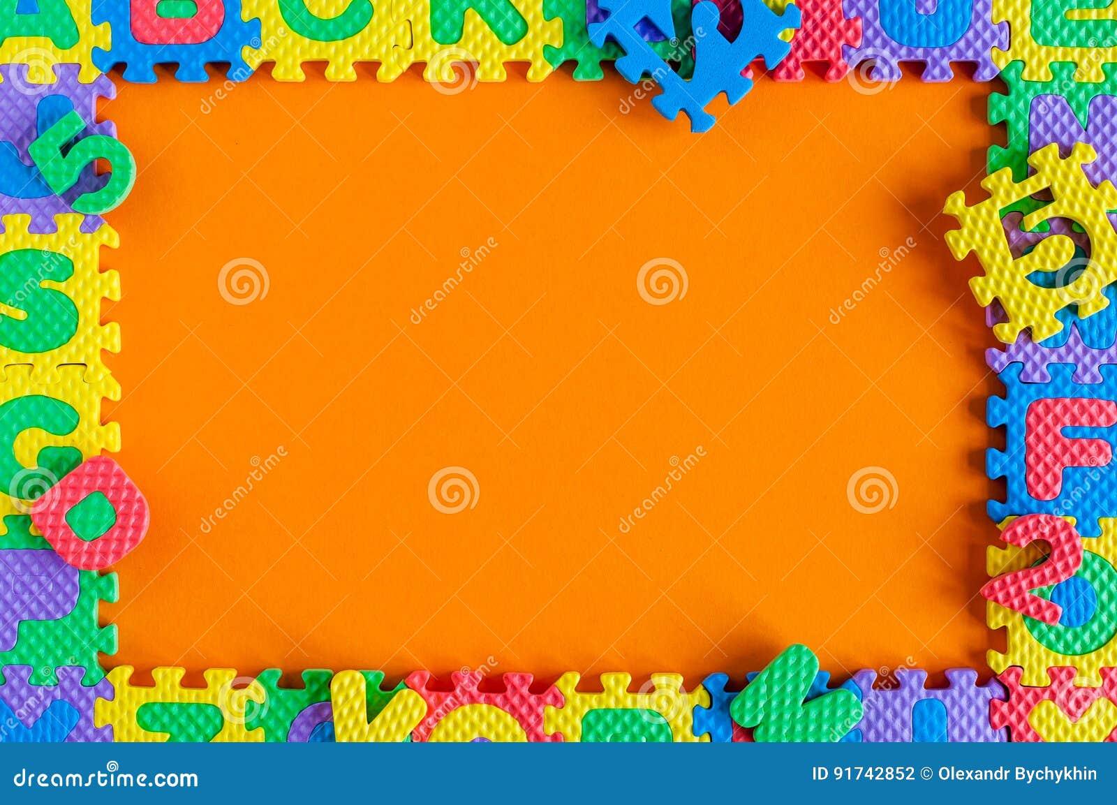calibre cadre de puzzle de jouet d 39 enfant avec l 39 espace vide pour le texte ou la photo. Black Bedroom Furniture Sets. Home Design Ideas