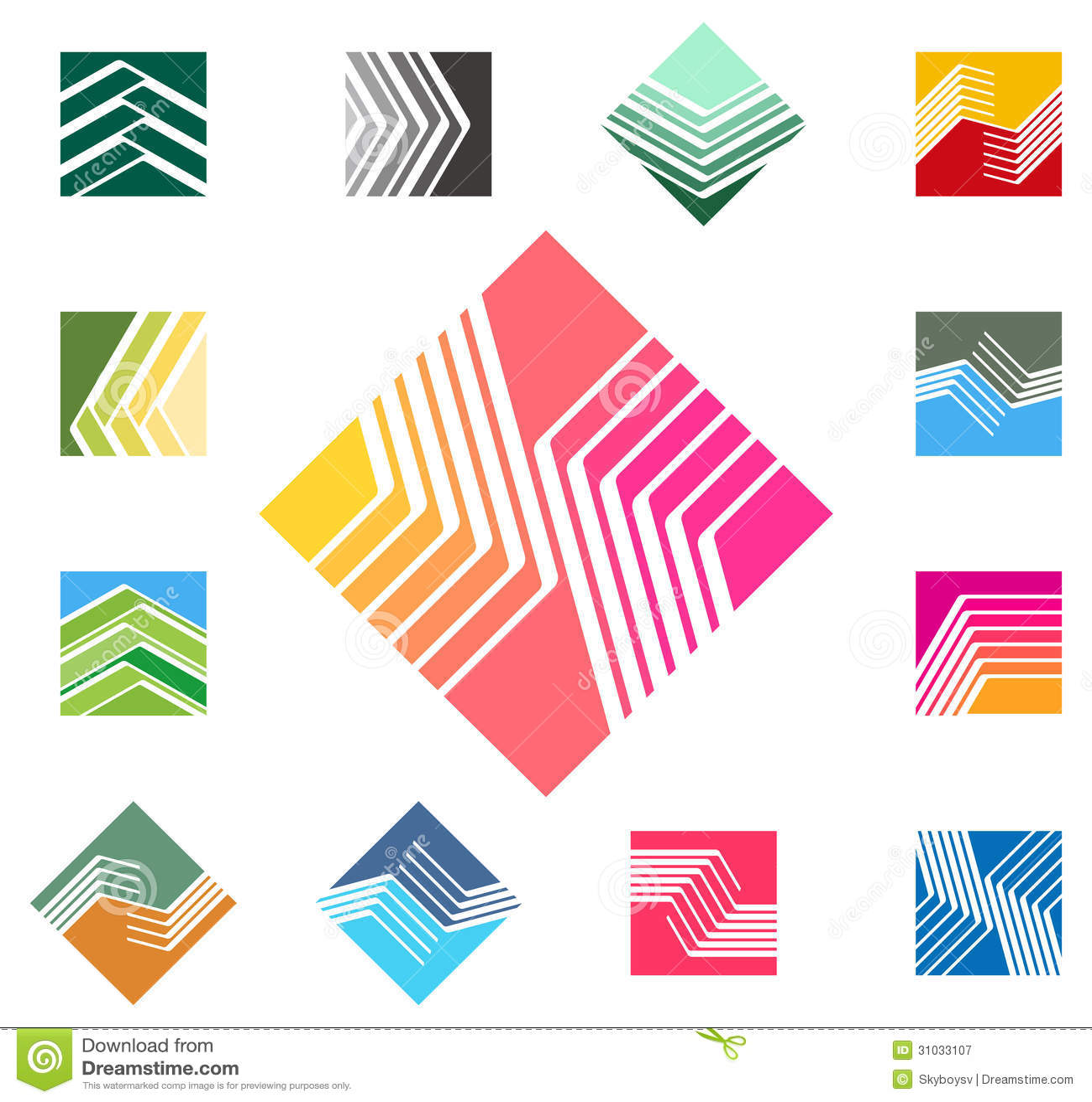 Calibre carré de logo de vecteur de conception.