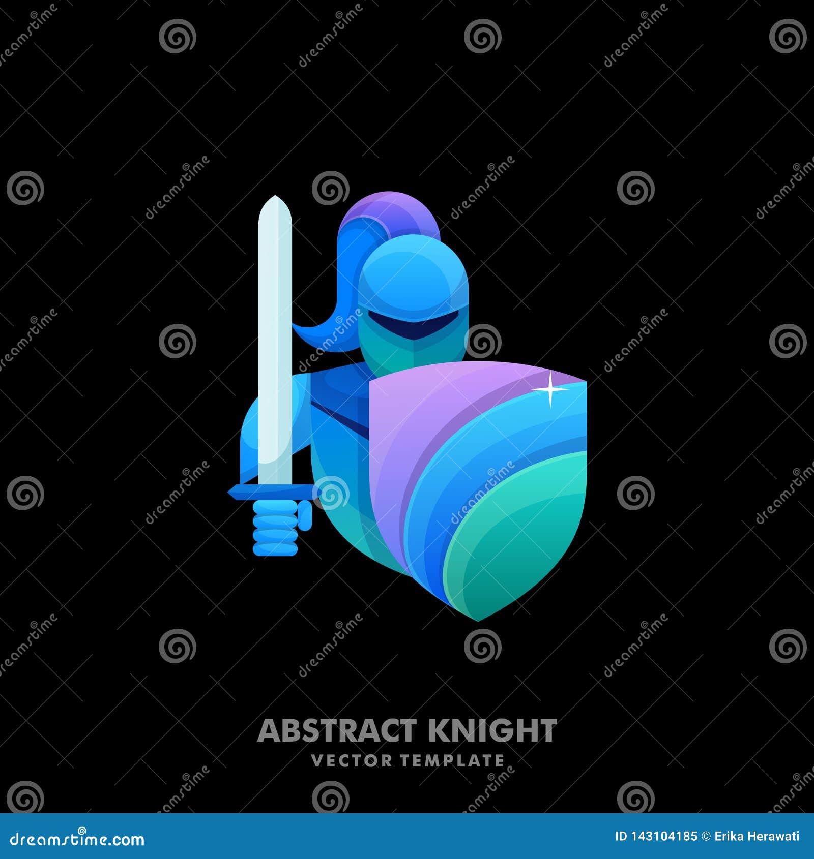Calibre coloré de vecteur d illustration de chevalier de résumé